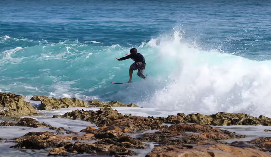 Mason Ho 'Almost Dies' on a Very Sharp, Incredibly Shallow Chunk of Reef