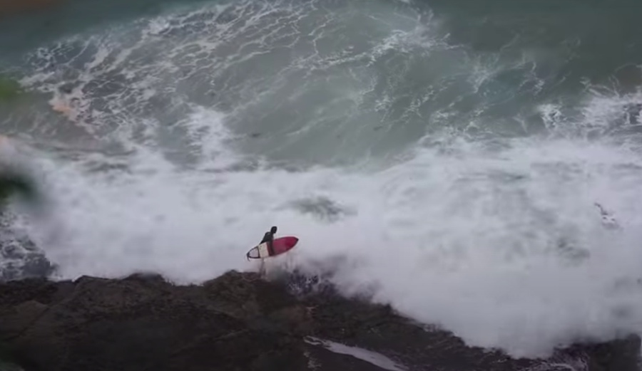How Not to Jump Off the Rocks to Paddle Out in Big Surf (or How to Get Absolutely Pummeled)