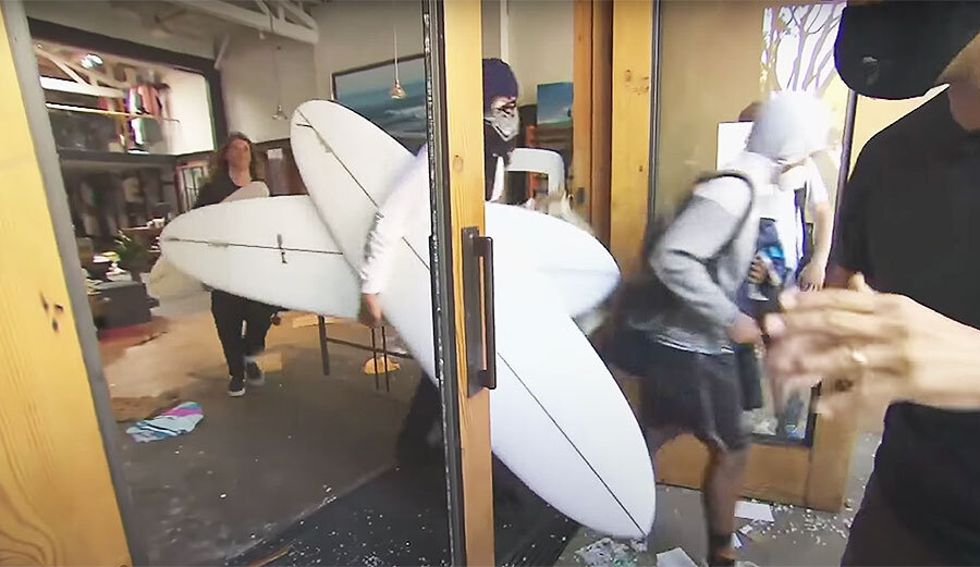 Footage of Stealing Surfboards from Santa Monica Shops Personifies Surfing's White Privilege