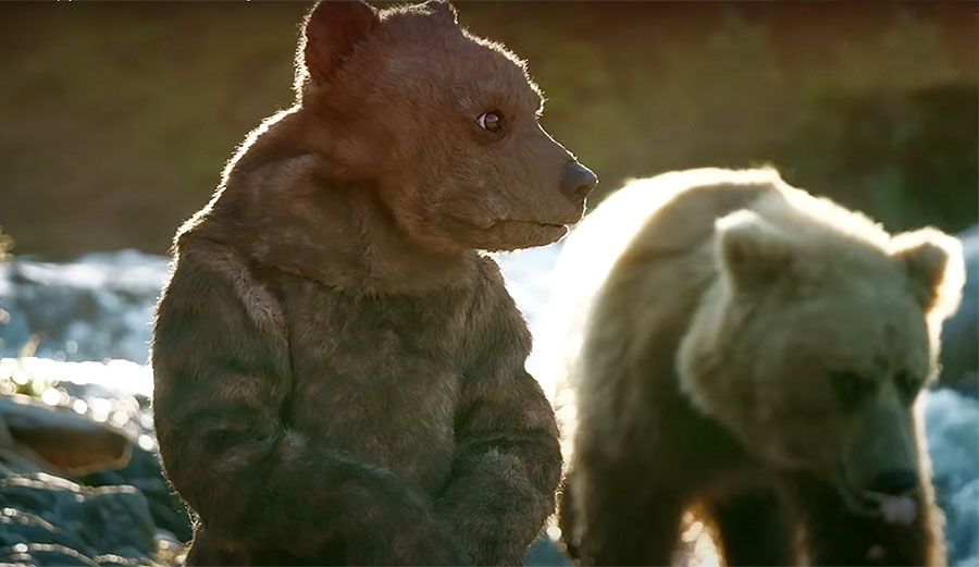 Super Weird Robot Spy Bear Cub Goes Fishing With Real Grizzlies