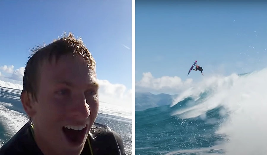Kai Lenny Went Strapped Surfing with Pro Snowboarder Lyon Farrell and Magic Happened