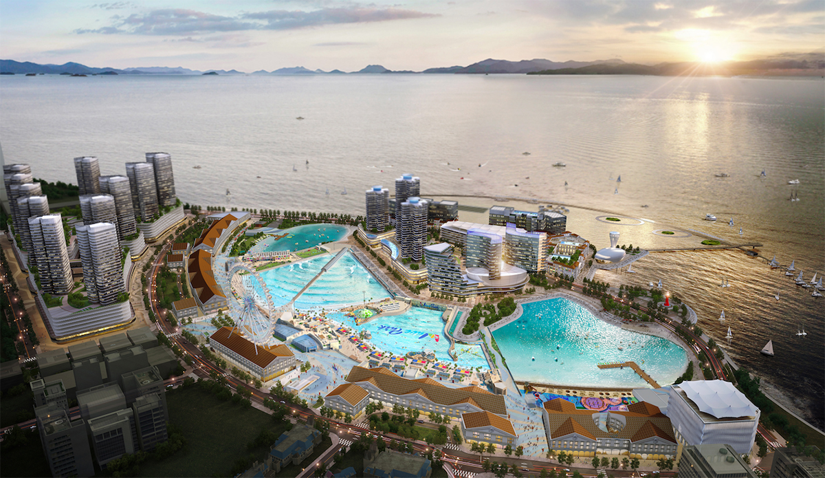 Wavegarden Opens 'the World's Largest Surf Park': A $2 Billion, 167K Square Meter Waterfront Resort