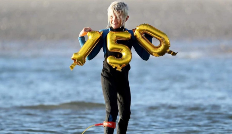 Nine-Year-Old Catches Waves in NJ for 150 Straight Days and Counting