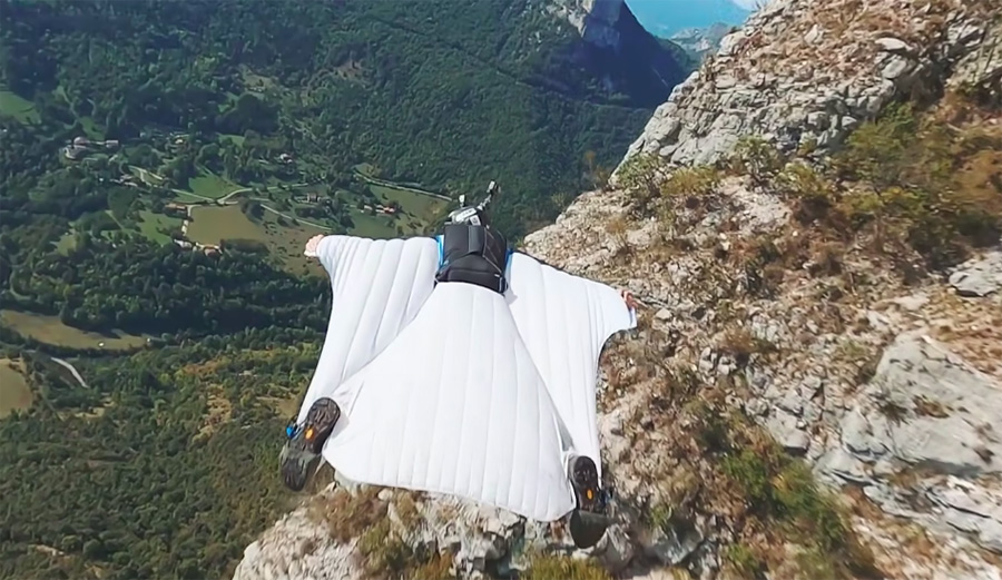 Drone Footage of Wingsuit Pilots Captures the True Intensity of the Pursuit