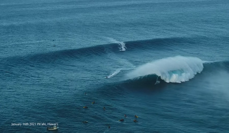 This Is Drone Footage From 'Ben Aipa Saturday,' a Massive Day at Jaws on January 16th