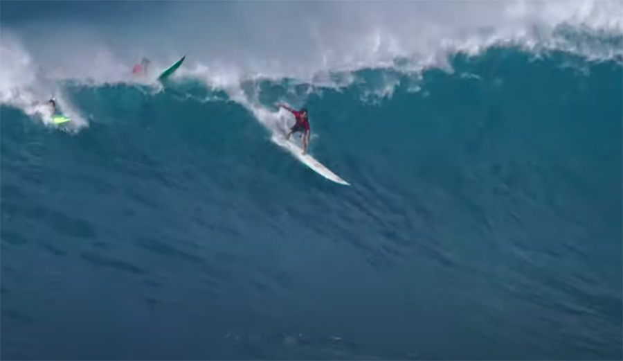 Mason Ho and Friends at Giant Waimea Is a Sight to Behold