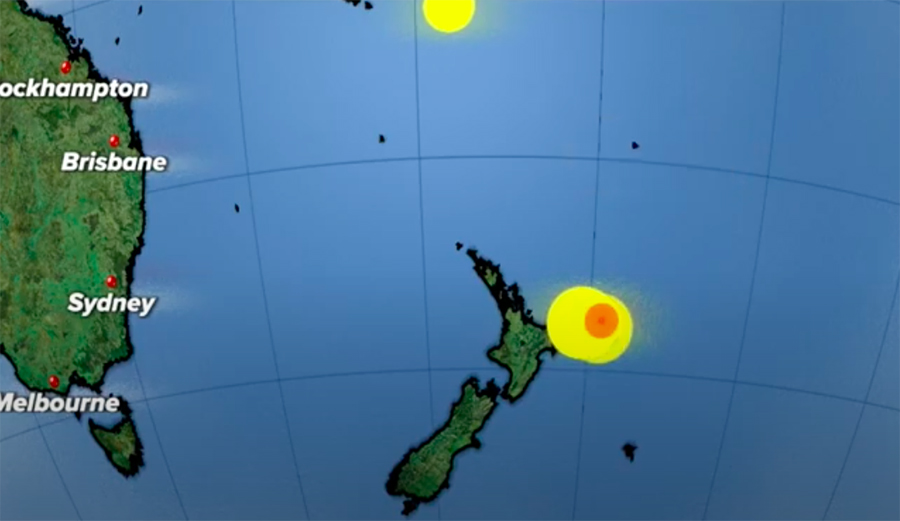 Hawaii Under Tsunami Watch After Powerful Earthquakes Strike Off New Zealand