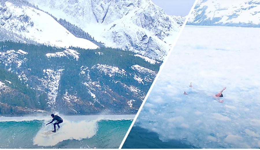 ג'קאס של גלים וקרחונים: טיול הגלישה לאלסקה של Steve-o אחד המצחיקים