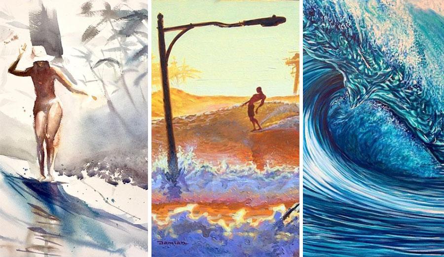 Surf artists Johny Vieira, Damian Fulton, Joshua Paskowitz
