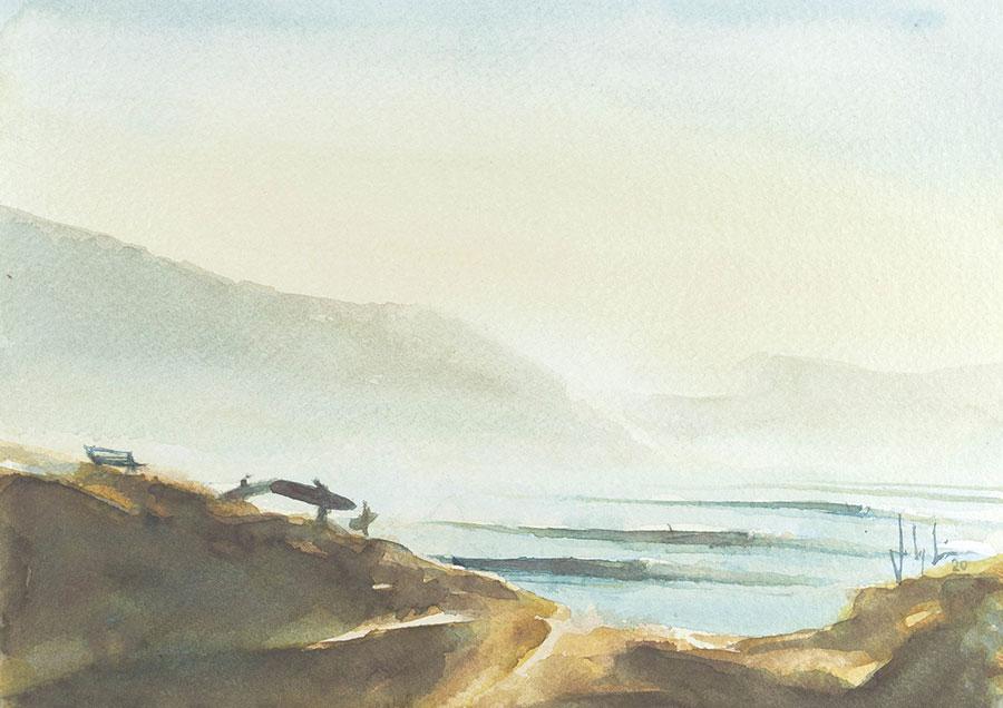 Imsouane surf art Johny viera surf artists