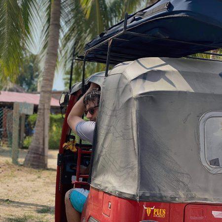 the dirtbag on a tuktuk
