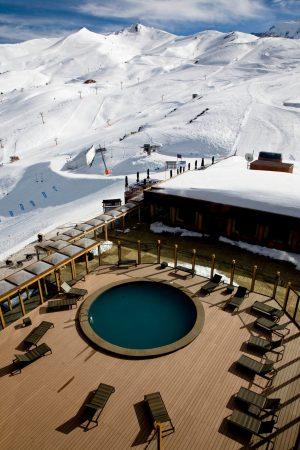 chile skiing resort hot tub for ikon pass