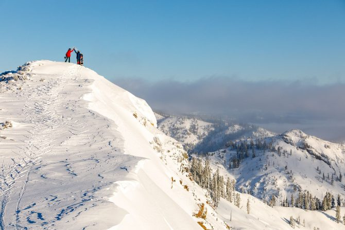 Get ready for real High Fives at Squaw Valley Alpine Meadows. Photo: Ikon Pass