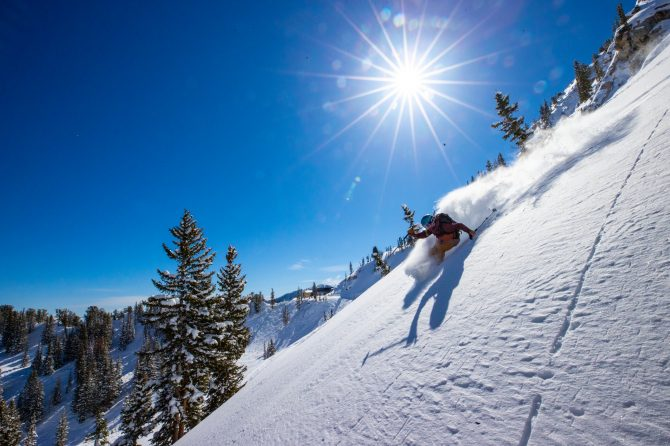 Sydney Ricketts skiing at Solitude, UT ikon pass 2021-22
