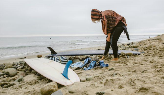 kassia surf changing robe poncho hero image