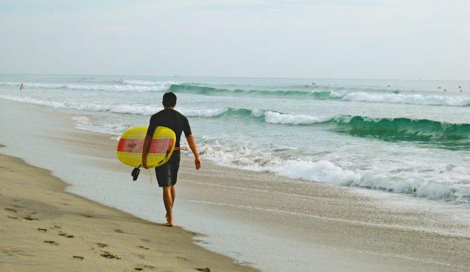 surfboard under arm carry florida