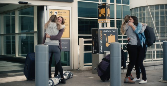Arrivals at the airport via Ikon Pass