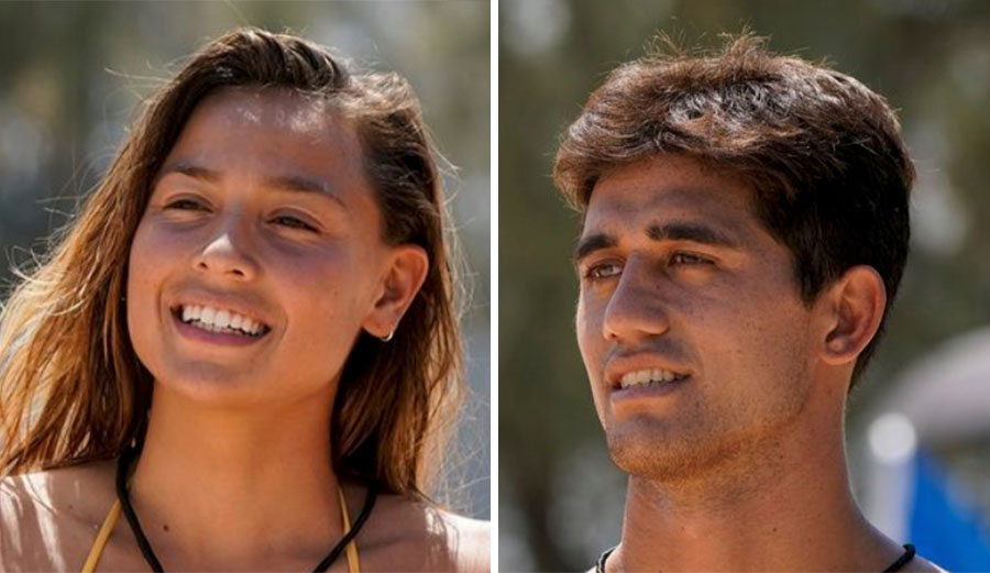 Tia Blanco and Zeke Lau in The Ultimate Surfer Finale