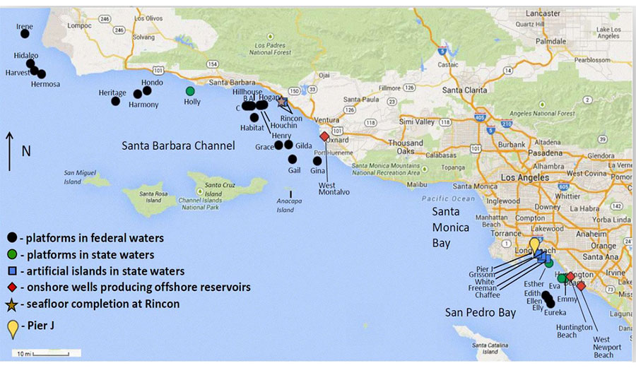 oil platforms in southern california